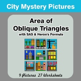 Area of Oblique Triangles - Math Mystery Pictures - City