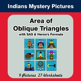 Area of Oblique Triangles - Math Mystery Pictures - Indians