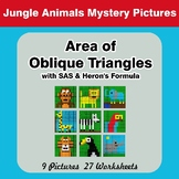 Area of Oblique Triangles - Math Mystery Pictures - Jungle
