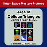 Area of Oblique Triangles - Math Mystery Pictures - Outer Space