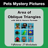 Area of Oblique Triangles - Math Mystery Pictures - Pets