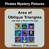 Area of Oblique Triangles - Math Mystery Pictures - Pirates