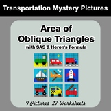 Area of Oblique Triangles - Math Mystery Pictures - Transp