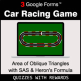 Area of Oblique Triangles with SAS & Heron's Formula | Car