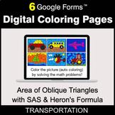 Area of Oblique Triangles with SAS & Heron's Formula - Dig