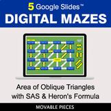 Area of Oblique Triangles with SAS & Heron's Formula | Dig