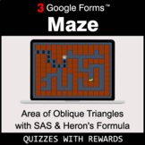 Area of Oblique Triangles with SAS & Heron's Formula | Maz