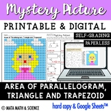 Area of Parallelogram, Triangle & Trapezoid: Mystery Pictu