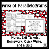 Area of Parallelograms Lessons