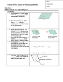 Guided Notes for Area of Parallelograms