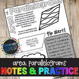 Area of Parallelograms Doodle Guide & Practice Worksheet; Geometry