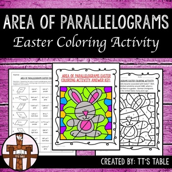 Area of Parallelograms Easter Coloring Activity