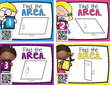 Area of Parallelograms {Instructional Video, Task Cards, Centers, & Assessments}