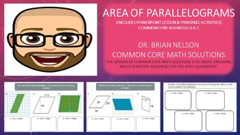 Area of Parallelograms (PowerPoint Lesson and Printables)