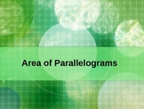Area of Parallelograms Powerpoint