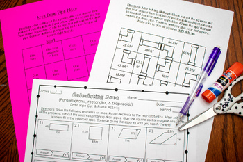 Area of Parallelograms, Rectangles, & Trapezoids Cut & Paste Drain Pipe Activity