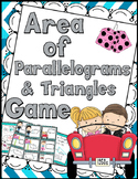 Area of Parallelograms & Triangles Game - Includes Anchor