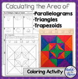 Area of Parallelograms, Triangles, and Trapezoids - Coloring Activity