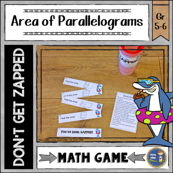 Area of Parallelograms ZAP Math Game