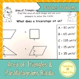 Area of Parallelograms and Triangles Riddle Page