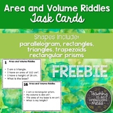 Area of Polygons and Volume of Rectangular Prisms Riddle T