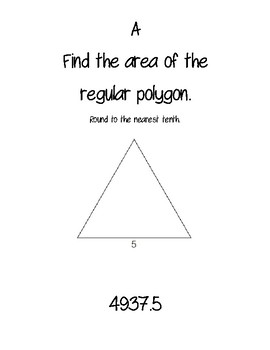Area of Polygons ATR