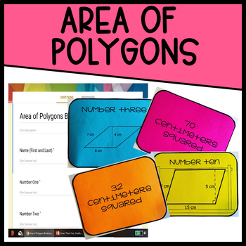 Area of Polygons Breakout + Matching Activity