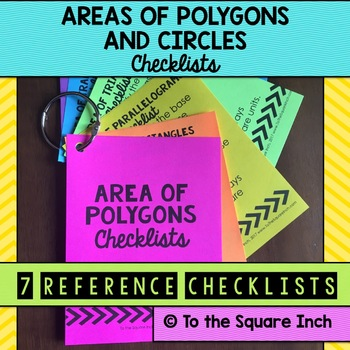 Area of Polygons Checklists