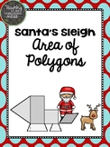 Area of Polygons--Christmas Middle School Math