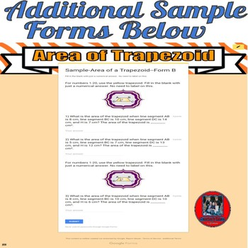 Area of Polygons, Circles, and Compound Shapes-Google Forms Bundle