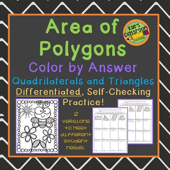 Color by answer teaching resources teachers pay teachers area of polygons color by answer quadrilaterals and triangles fandeluxe Choice Image