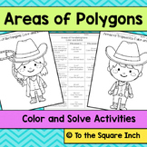 Area of Polygons Color and Solve