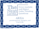 Next Level: Area of Polygons: Error Analysis & Higher Order Thinking Questions