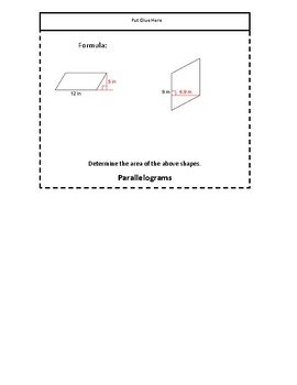 Area of Polygons Foldable