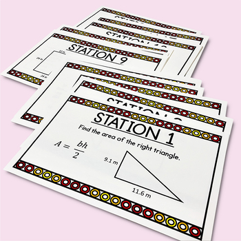 Area of Polygons- Geometry Stations (CCSS 6.G.1)