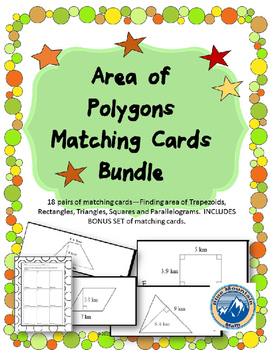 Area of Polygons Matching Card Sets