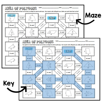 Area of Polygons Maze