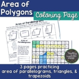 Area of Polygons Mystery Picture-Area of Parallelograms, T