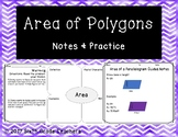 Area of Polygons Notes and Practice Resources