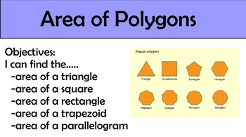Area of Polygons Packet