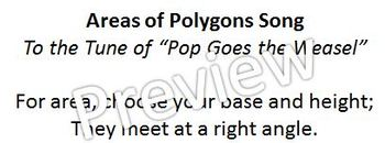 Area of Polygons Song