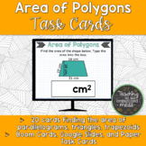 Area of Polygons Task Cards-Digital & Paper-Parallelograms