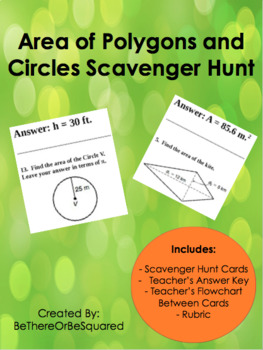 Area of Polygons and Circles Scavenger Hunt
