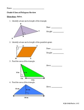 Area of Polygons and Composite Figures Review (MIF Chapter 10)
