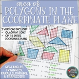 Area of Polygons in the Coordinate Plane Coloring Activity