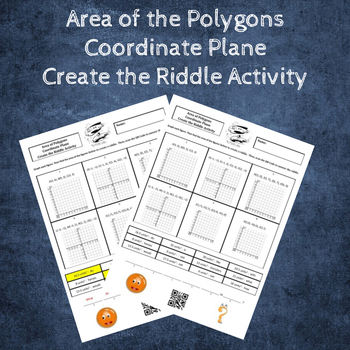 Area of Polygons in the Coordinate Plane Create the Riddle Activity