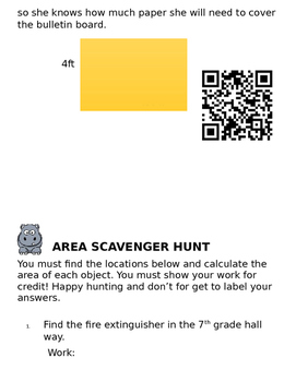 Area of Polygons scavenger hunt