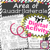 Area of Quadrilaterals Worksheet