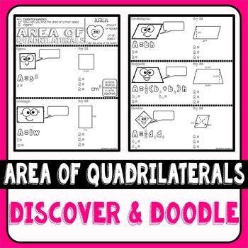 Area of Quadrilaterals Discover & Doodle