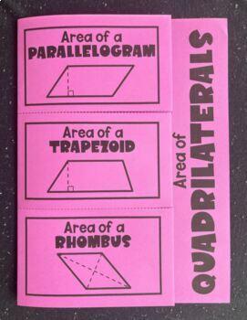 Area of Quadrilaterals (Foldable)